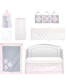 Pam Grace Creations Pretty in Trellis 10 Piece Crib Bedding Set