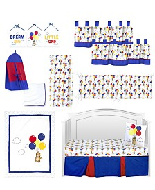 Pam Grace Creations Bears and Balloons 13 Piece Crib Bedding Set