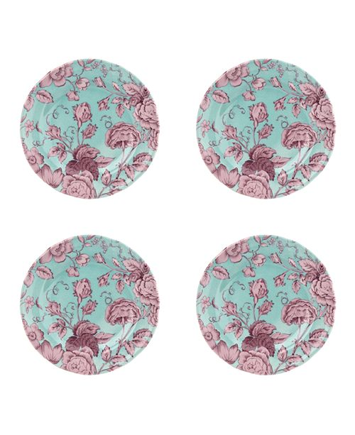 Spode Kingsley Teal Salad Plate, Set of 4