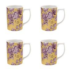 Kingsley Ochre Mug, Set of 4