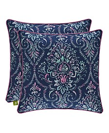 "J by J Queen Kayani 18"" Square Decorative Throw Pillow"