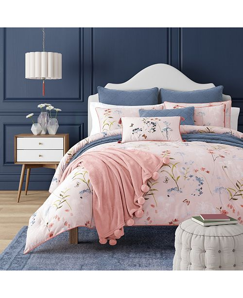 J Queen New York Beatrice Rose Twin 2pc. Comforter Set