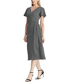 Lauren Ralph Lauren Houndstooth-Print Crepe Dress