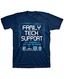 Jem Big Boys Family Tech Support T-Shirt