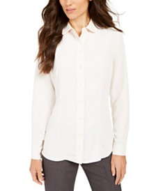 Anne Klein Peter Pan-Collar Blouse