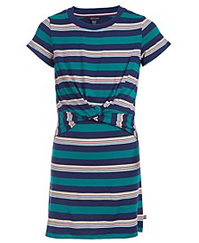 Little Girls Tie-Front T-Shirt Dress