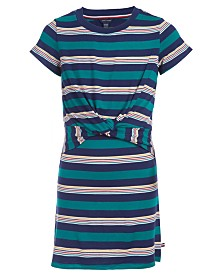 Tommy Hilfiger Little Girls Tie-Front T-Shirt Dress