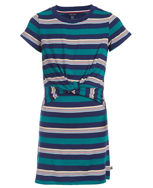 Tommy Hilfiger Little Girls Tie-Front T-Shirt Dress