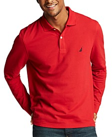 Men's Long Sleeve Logo Polo Shirt