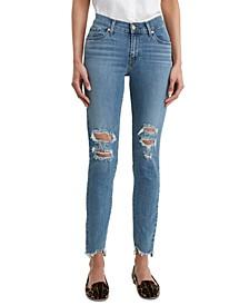 Women's Distressed Curvy-Fit Skinny Jeans