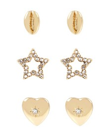 BCBGeneration Shell Mixed Stud Earrings Set