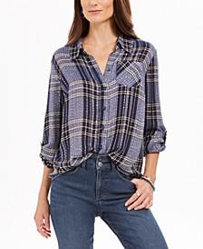 Sparkle Plaid Shirt, Created for Macy's