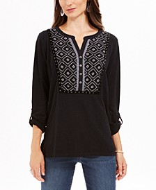 Cotton Embroidered Top, Created For Macy's
