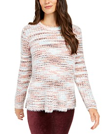 Marled Fuzzy Sweater, Created for Macy's