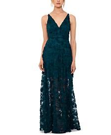 Xscape Floral Lace Gown