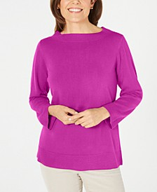 Bateau-Neck Long-Sleeve Sweater, Created for Macy's