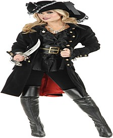 Buy Seasons Women's Pirate Vixen Coat Costume