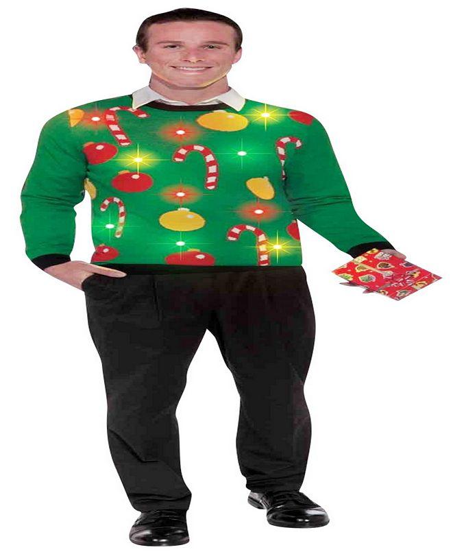 BuySeasons Buy Seasons Men's Christmas - Light Up Ugly Sweater