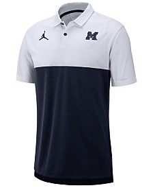Nike Men's Michigan Wolverines Dri-Fit Colorblock Breathe Polo