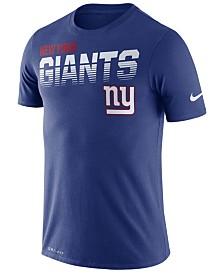 Nike Men's New York Giants Sideline Legend Line of Scrimmage T-Shirt