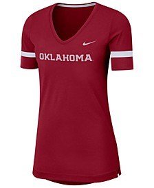 Women's Oklahoma Sooners Fan V-Neck T-Shirt