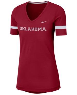 Nike Women's Oklahoma Sooners Fan V-Neck T-Shirt