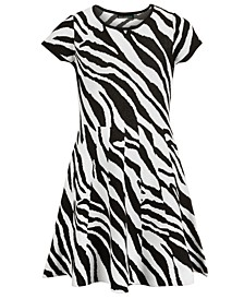 Big Girls Zebra-Print Dress