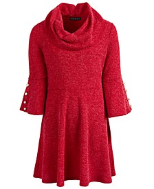 Big Girls Cowl Neck Sweater Dress
