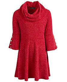 Sequin Hearts Big Girls Cowl Neck Sweater Dress