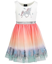 Little Girls Unicorn Rainbow Dress