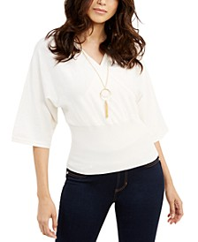 Dolman-Sleeve Necklace Top, Created For Macy's