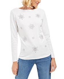 Embellished Snowflake Top, Created For Macy's