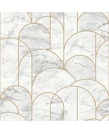 "Engblad Co 21"" x 396"" Arch Light Geometric Wallpaper"