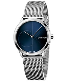 Women's Minimal Stainless Steel Mesh Bracelet Watch 35mm
