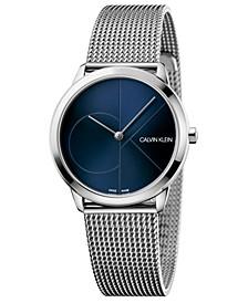 Women's Minimal Stainless Steel Mesh Bracelet Watch 35mm