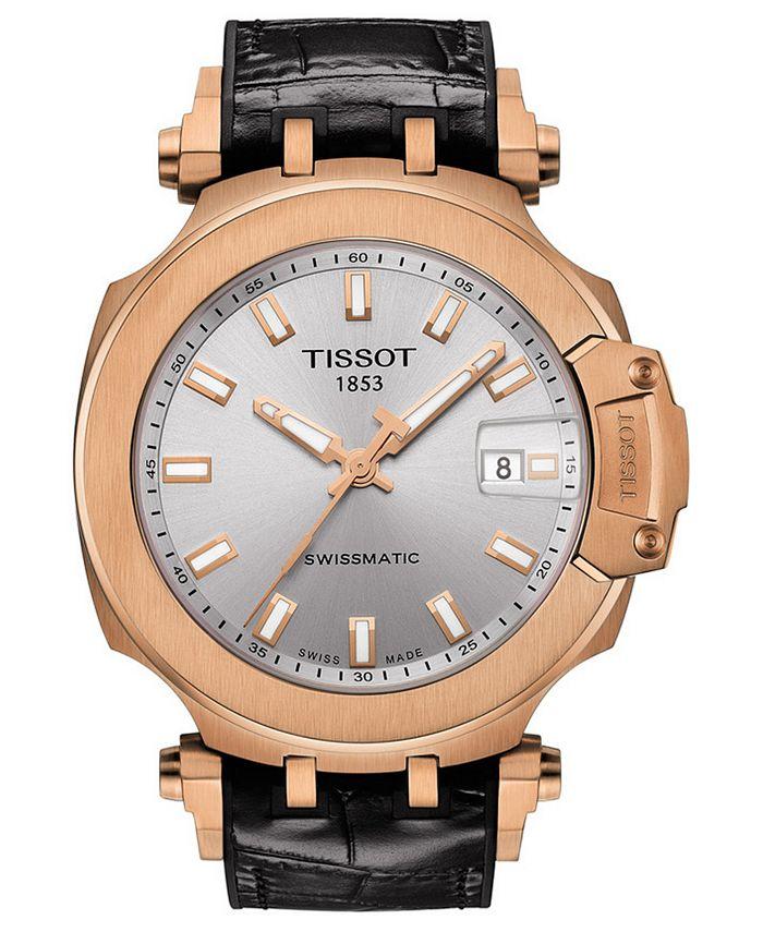 Tissot - Men's Swiss Automatic T-Race Swissmatic Black Rubber Strap Watch 49mm