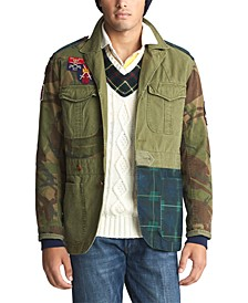 Men's Patchwork Cotton Canvas Jacket
