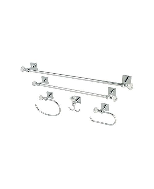 Kingston Brass Celebrity 18-Inch and 24-Inch Towel Bar Bathroom Accessory Combo in Polished Chrome