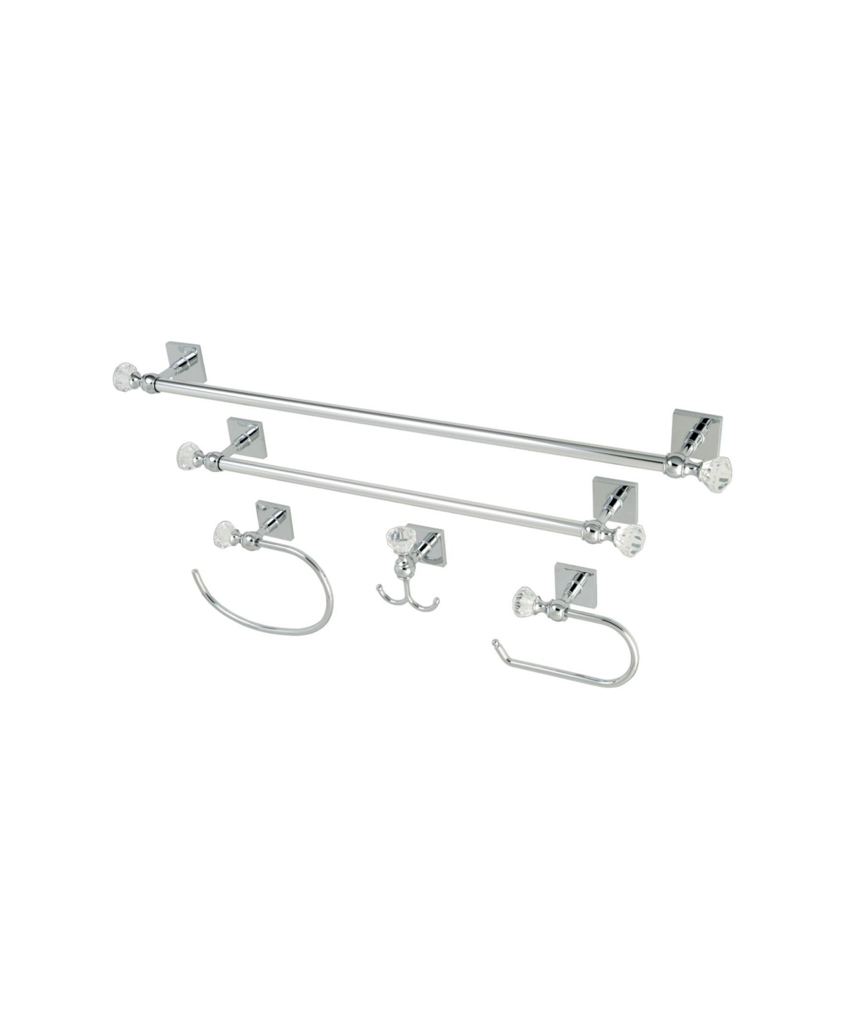 Kingston Brass Celebrity 18-Inch and 24-Inch Towel Bar Bathroom Accessory Combo in Polished Chrome Bedding