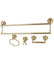 Restoration 4-Pc. Dual Towel Bar Bathroom Hardware Set