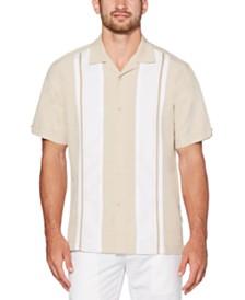 Cubavera Men's Color Block Panel Short Sleeve Shirt
