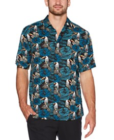 Cubavera Men's Regular-Fit Tropical Toucan-Print Shirt
