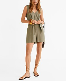 Mango Bow Detail Jumpsuit