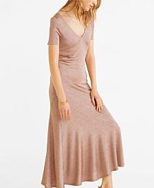Mango Textured Midi Dress