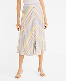 Mango Striped Pattern Skirt