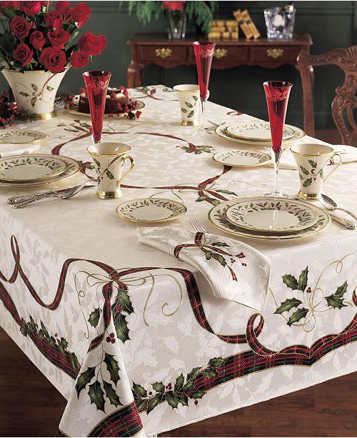 "Lenox CLOSEOUT! Holiday Nouveau 60"" x 140"" Tablecloth"