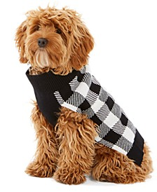 Check-Print Dog Family Family Sweater, Created For Macy's