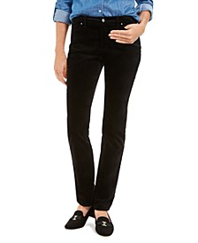 Velveteen Tummy-Control Ankle Straight Jeans, Created For Macy's