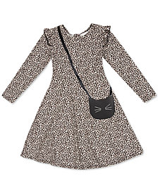 Speechless Toddler Girls Animal-Print Dress & Cat Purse