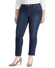 Lauren Ralph Lauren Plus Size Premiere Straight Curvy-Fit Jeans